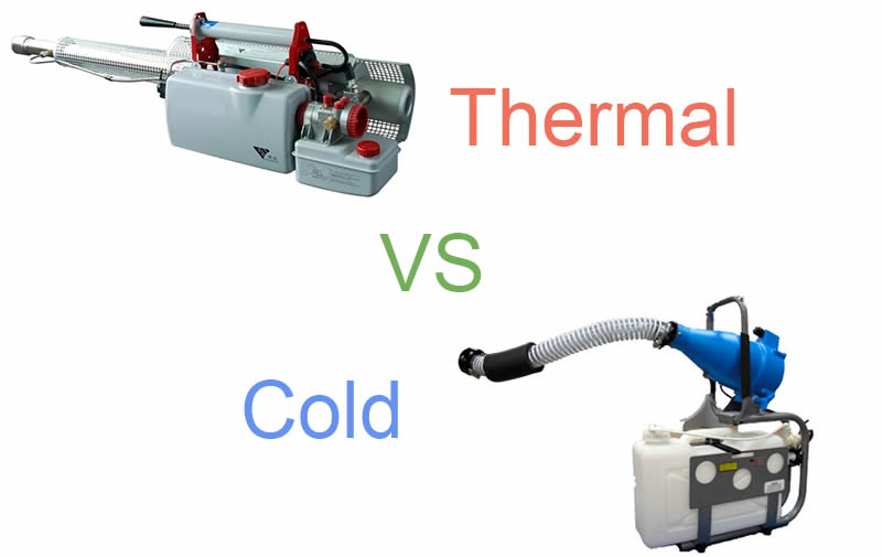 Differences between thermal and ULV foggers